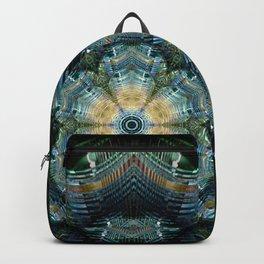 Abstract tweed flower mandala Backpack