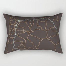 Oregon Highways Rectangular Pillow