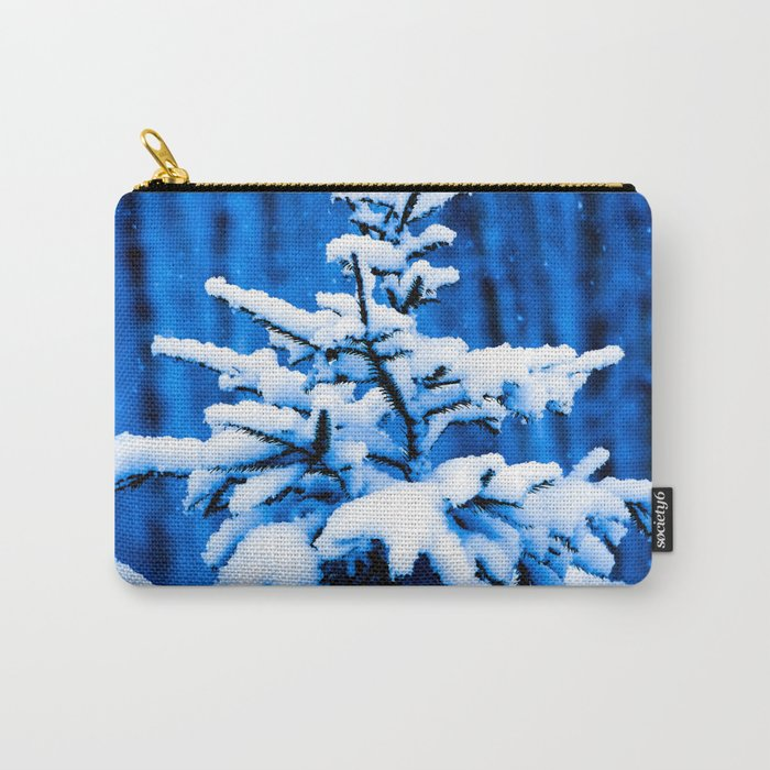 Snow covered Christmas tree Carry-All Pouch