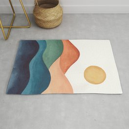 Colorful Abstract Mountains Rug