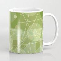 50s Mugs featuring 50s wallpaper by jenapaul