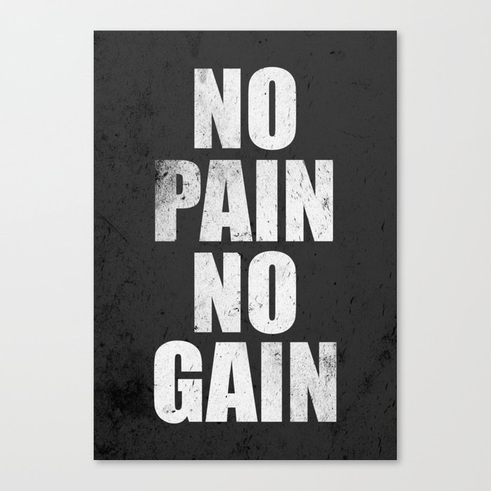 Lab No 4 Fitness Motivation Inspirational Gym Quotes Poster Canvas Print By Labno4