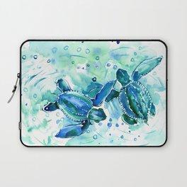 Turquoise Blue Sea Turtles in Ocean Laptop Sleeve