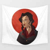 korra Wall Tapestries featuring Miss Sato by Jayce JvR