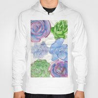 succulents Hoodies featuring Succulents by Kate Havekost Fine Art