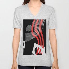 Black and white meets red Version 30 Unisex V-Neck