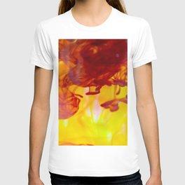 ink clot liquid blending macro T-shirt