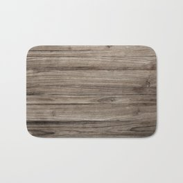 Rustic Brown Wooden Texture Background Bath Mat