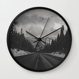 December Road Trip in the Pacific Northwest Wall Clock
