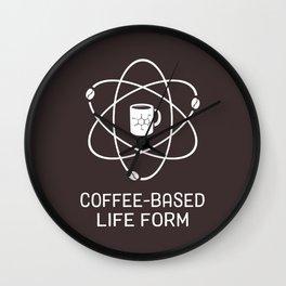 Coffee-based Life Form Wall Clock