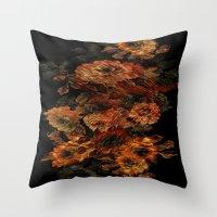 flower pattern Throw Pillows featuring Flower Pattern by Eduardo Doreni