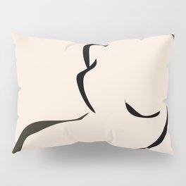 abstract minimal nude Pillow Sham
