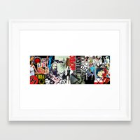 bands Framed Art Prints featuring Bands Photobomb by KurtCortis