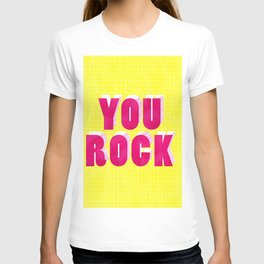 YOU ROCK - neon typography T-shirt