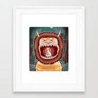 wild things Framed Art Prints featuring Wild Things. by BTillustration