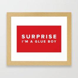 Glue Boy Framed Art Print