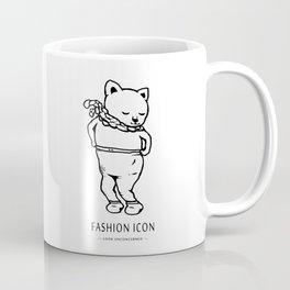 fashion icon cat Coffee Mug