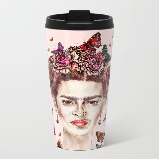 Frida Kahlo - Mexico Metal Travel Mug