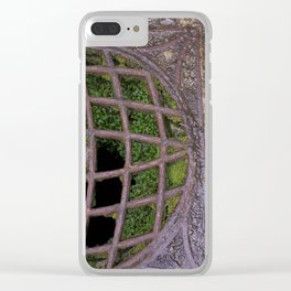 Mossy Grate at St. Michael's Mount Clear iPhone Case