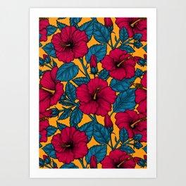 Hibiscus flowers Art Print