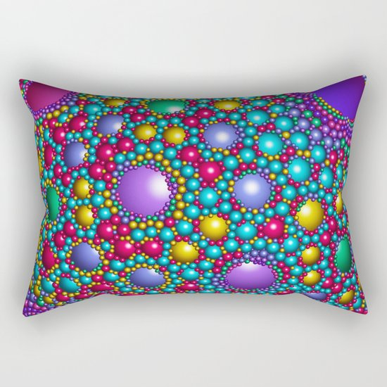 Colored balls Rectangular Pillow