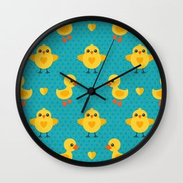 CHICKS AND DUCKLINGS Wall Clock