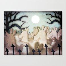 Unicorn Cemetery Canvas Print