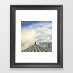 Turrets in the Clouds Framed Art Print