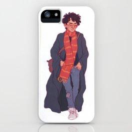 Strolling through Hogsmeade iPhone Case