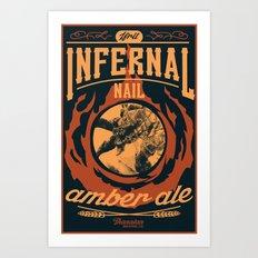Infernal Nail Amber Ale | FFXIV Art Print