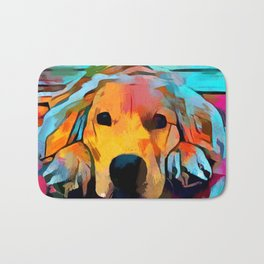 Golden Retriever 4 Bath Mat