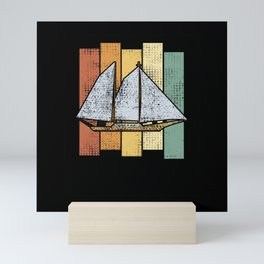 Sailing Retro Vintage Mini Art Print