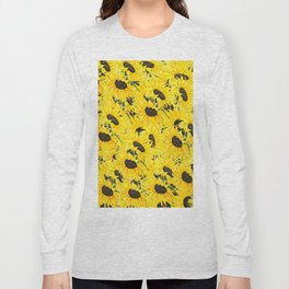 sunflower pattern 2018 1 Long Sleeve T-shirt