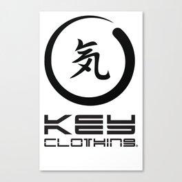 Key Clothing Canada Kanji Brushstroke Black Logo Canvas Print