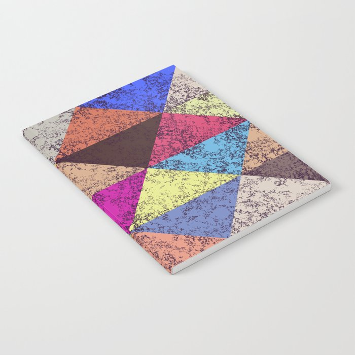 Color texture, Geometric background Notebook