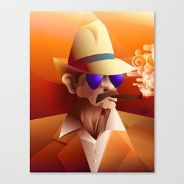 Cigar Aficionado Canvas Print