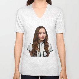 Alycia Debnam-Carey Low Poly Unisex V-Neck