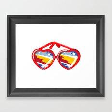 California Girl Sunglasses Framed Art Print