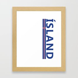 Island Sports Fan Athletic Iceland Design Framed Art Print