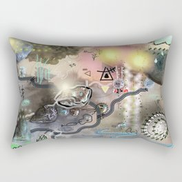 New worlds Trail Map: Planet Cosmic Cloud Frequency 528hz Rectangular Pillow