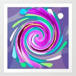 Purple twirl Art Print