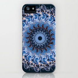 Blue Lace Medalion iPhone Case