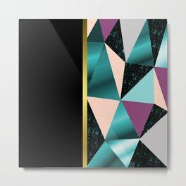 Abstract geometric Metal Print