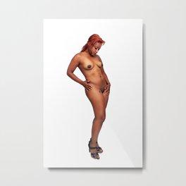 Beautiful Nude Redhead (2) Metal Print
