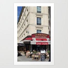Saint Lazare Paris France Art Print