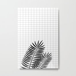 Checks & Leaf #society6 #decor #buyart Metal Print
