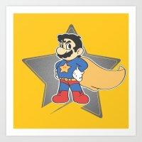 super mario Art Prints featuring Super Mario by tshirtsz