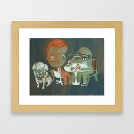 Eating pizza Framed Art Print