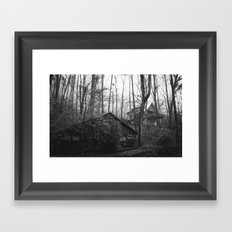 Cabins in the Woods Framed Art Print