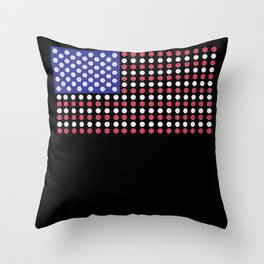 American Flag | Funny Gambling Gift Throw Pillow